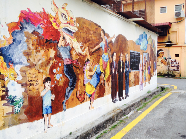 Discovering malaysia s street and contemporary art scene for Mural 1 malaysia