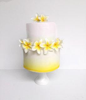 Frangipani Love Wedding Cake Perth