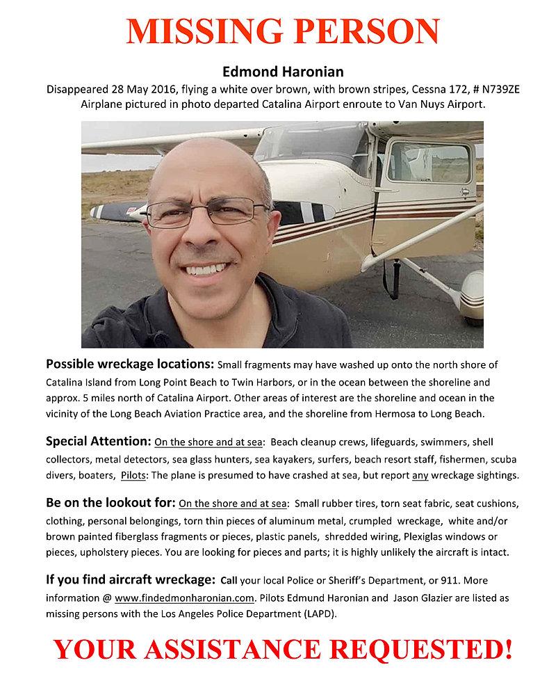 findedmondharonian – Missing Person Flyer