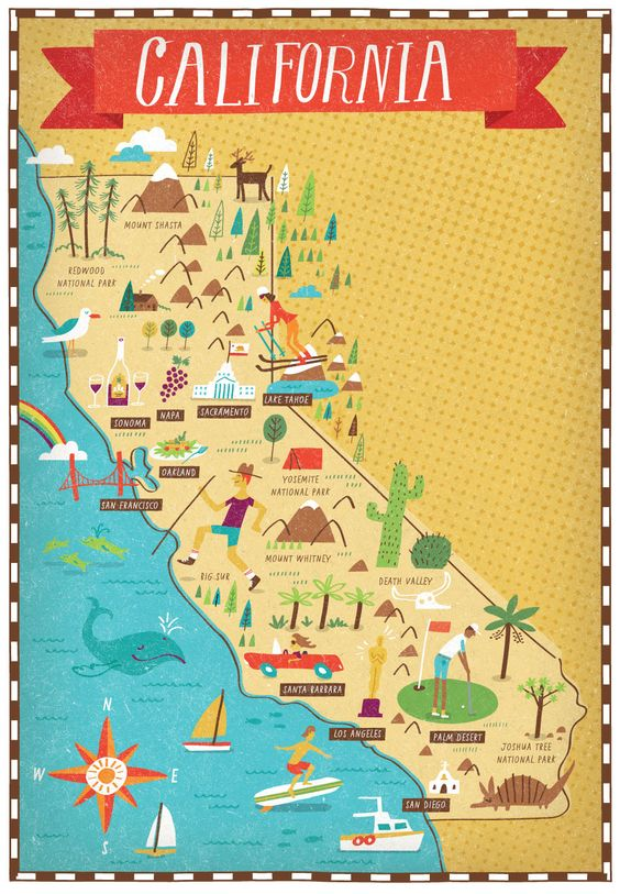 Map Of California Maps Details – Travel Map Of California