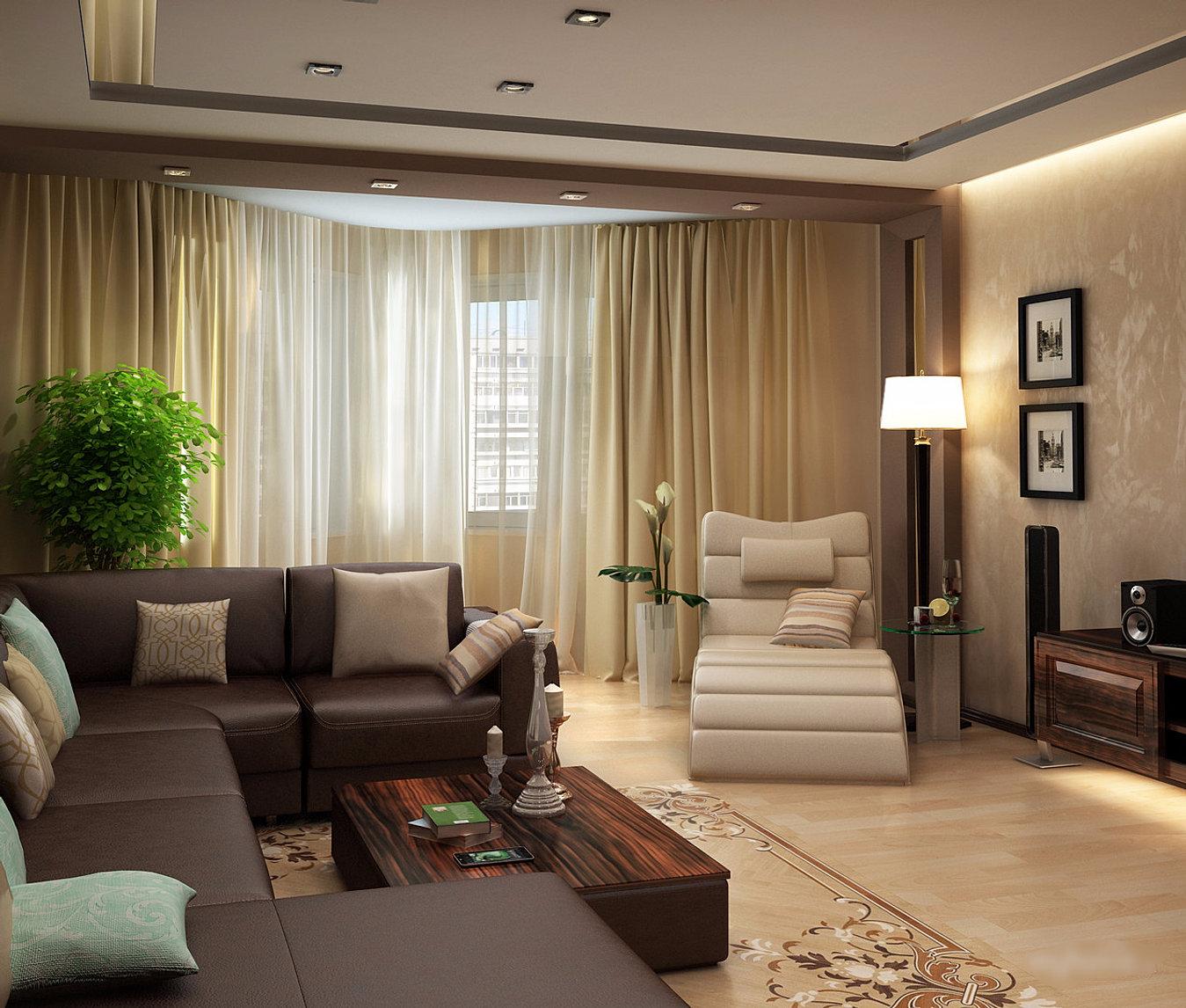 Фото дизайн квадратной комнаты