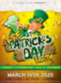 flyer for saint patricks day celebrations