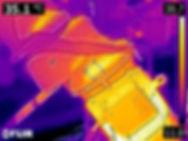 Motor thermal image photo