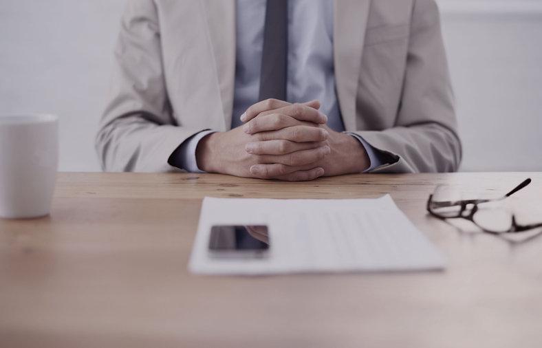 business man at desk
