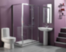 comfortable-ultramodern-purple-bathroom-