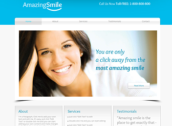 Dental Clinic Website Template | WIX