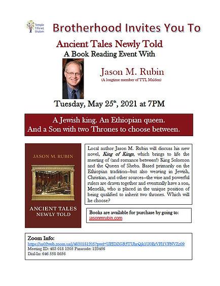 Brotherhood Event 5-25-21 Anceint Tales