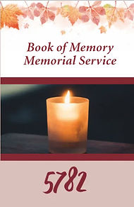 Cover page of Memorial Book 5782.jpg