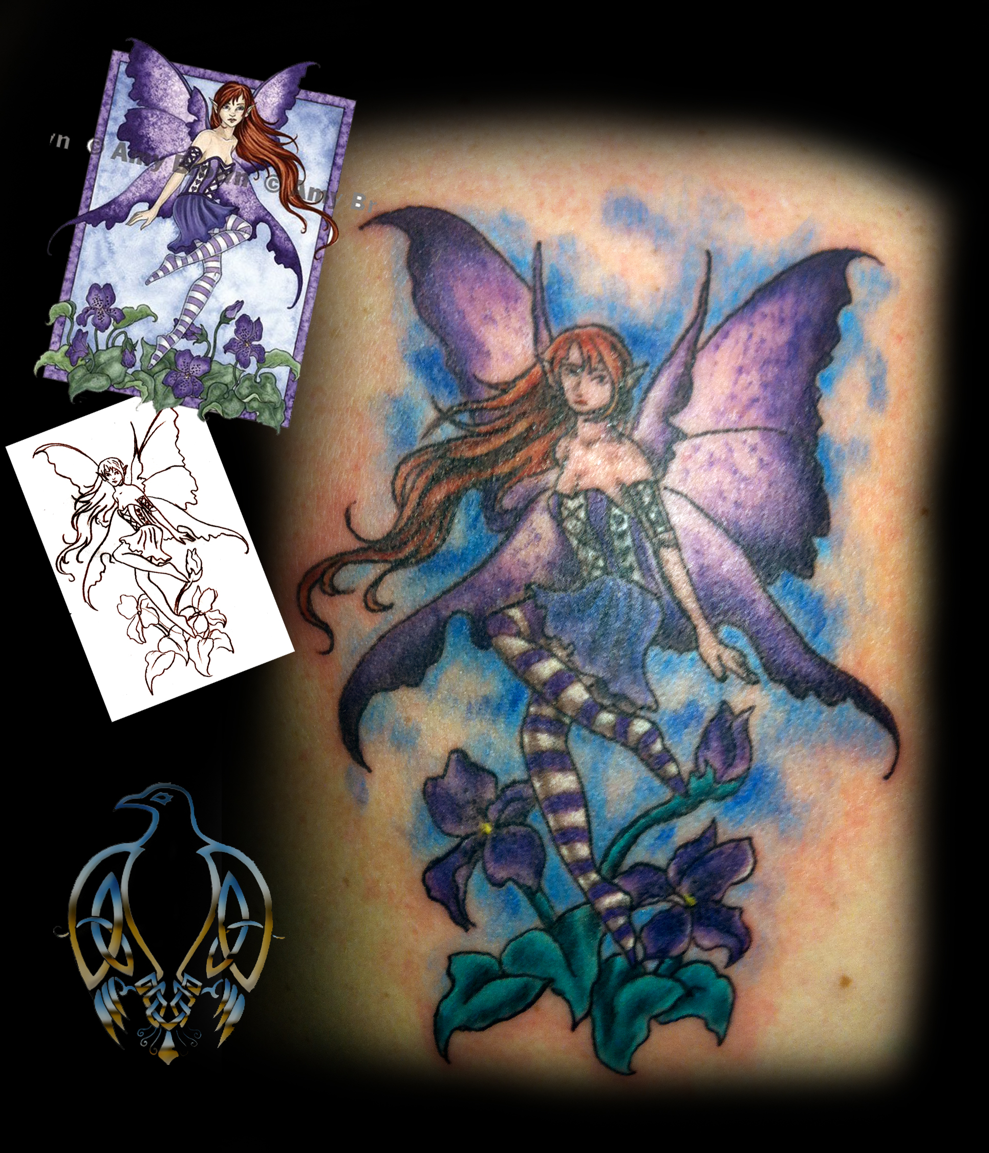 celtic crow tattoo amy brown fairy. Black Bedroom Furniture Sets. Home Design Ideas