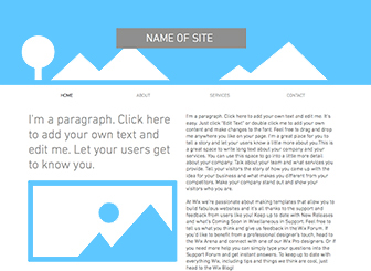 Strip Header Layout Template - Build your online presence from scratch with this clean layout. Choose backgrounds, fonts, and colors to complement your message. Upload photos, add text, and get online -- this layout is all yours!