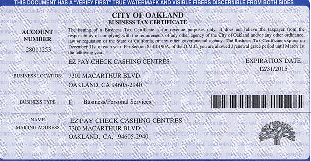 Ez Pay Payment Centers View Our License