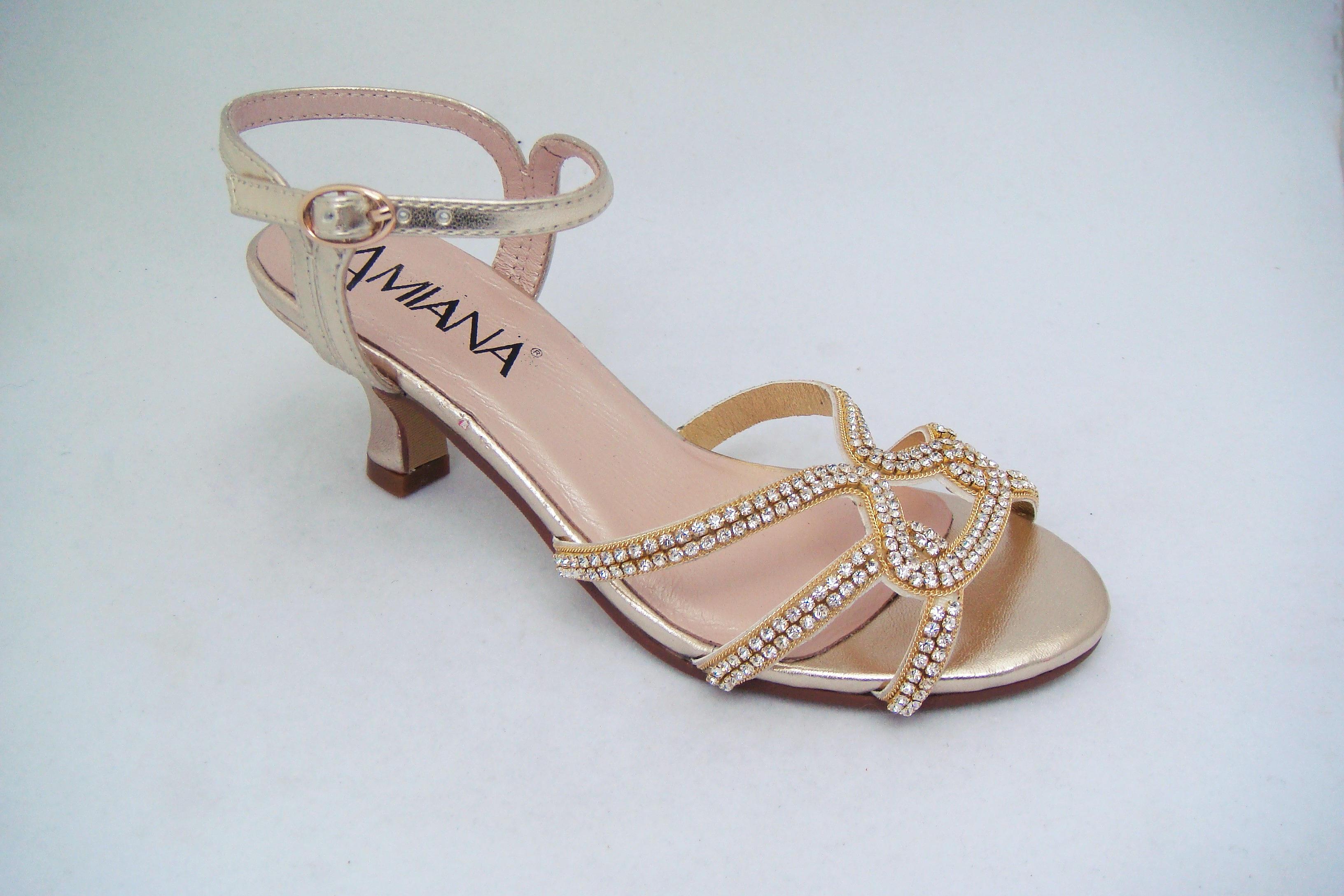 Childrens Silver Heels