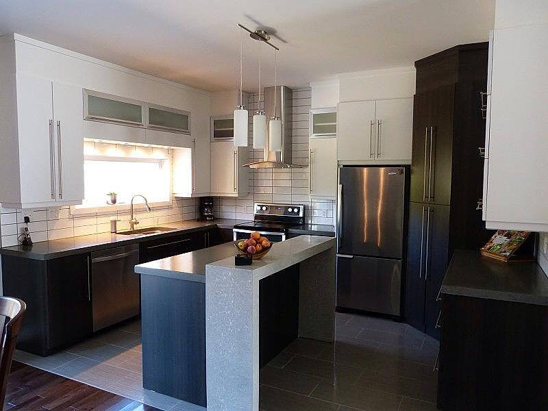 B ton multi surfaces comptoir de cuisine - Cuisine avec comptoir ...