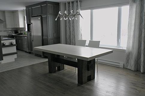 B ton multi surfaces mobilier sur mesure for Centre de table de cuisine