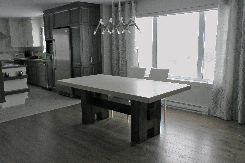 béton multi surfaces | table de cuisine sur mesure - Table De Cuisine Sur Mesure