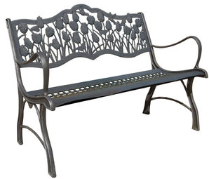 Tks Outdoors Cast Iron Loveseat Benches