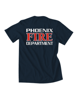 Mens phoenix fire red and white tee fire department t for T shirt screen printing phoenix