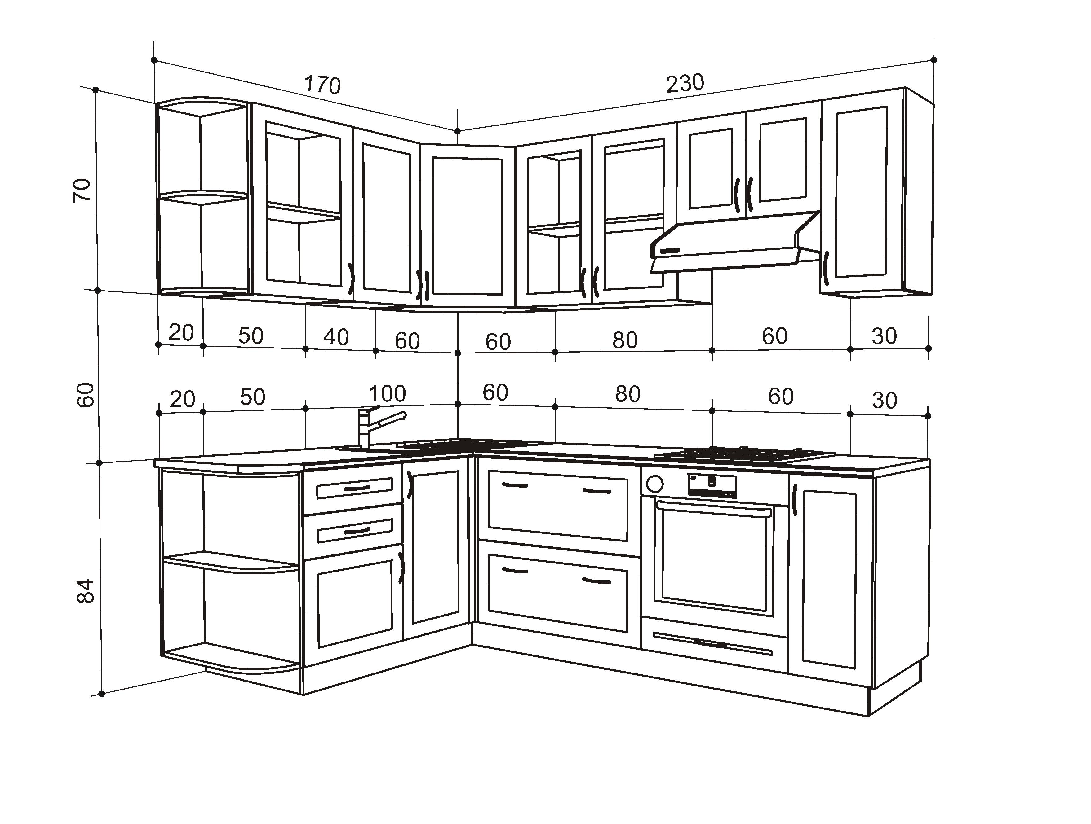 Кухни своими руками чертежи и фото