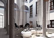 3D: Patio de hotel