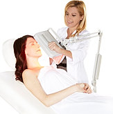L.E.D Red Light Therapy Facial. Youthful glowing skin, with this powerful anti aging facial available only at Tranquil Moments Spa in Winfield Illinois.