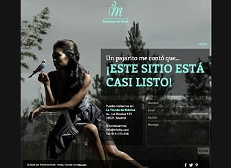 Próximamente - moda Template - Elegantes plantillas web gratis para anunciarle al mundo que tu web está por llegar. Simplemente agrega información de contacto, personaliza el fondo y ajusta el color. Cuando estés listo, agrega más páginas y crea un sitio completo.