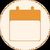 calendar icon orange