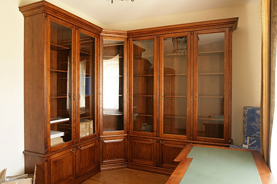 Книжные шкафы и библиотеки для дома: фото и цены, купить нед.