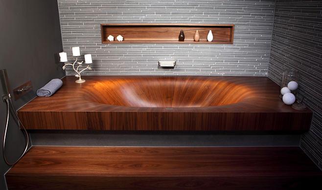 Alegna Laguna Basic wooden bathtub