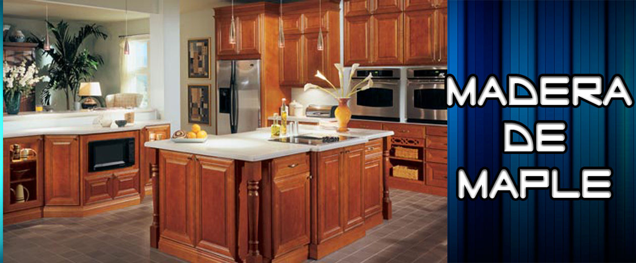 Dlux cocinas integrales for Madera maple