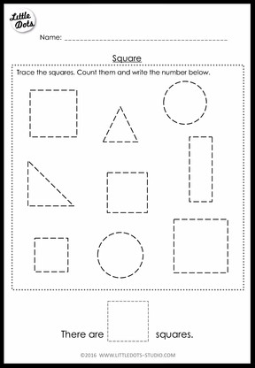 Pre-K Math Shapes Worksheets and Activities | Little Dots ...