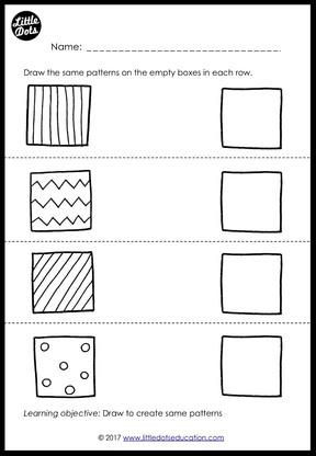 Preschool Patterns Matching Worksheets and Activities | Little ...