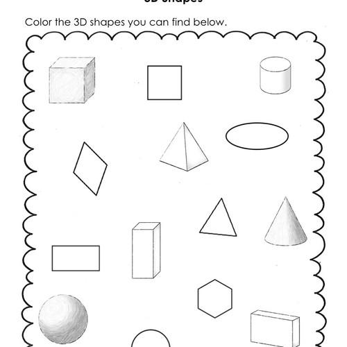 3d shape properties worksheet pdf