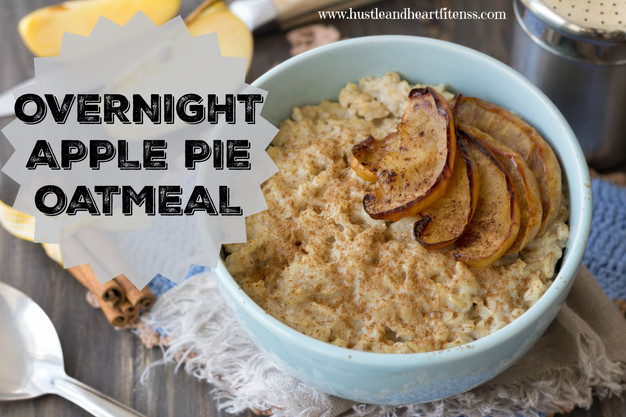Overnight Apple Pie Oatmeal - Crockpot | Hustle & Heart ...