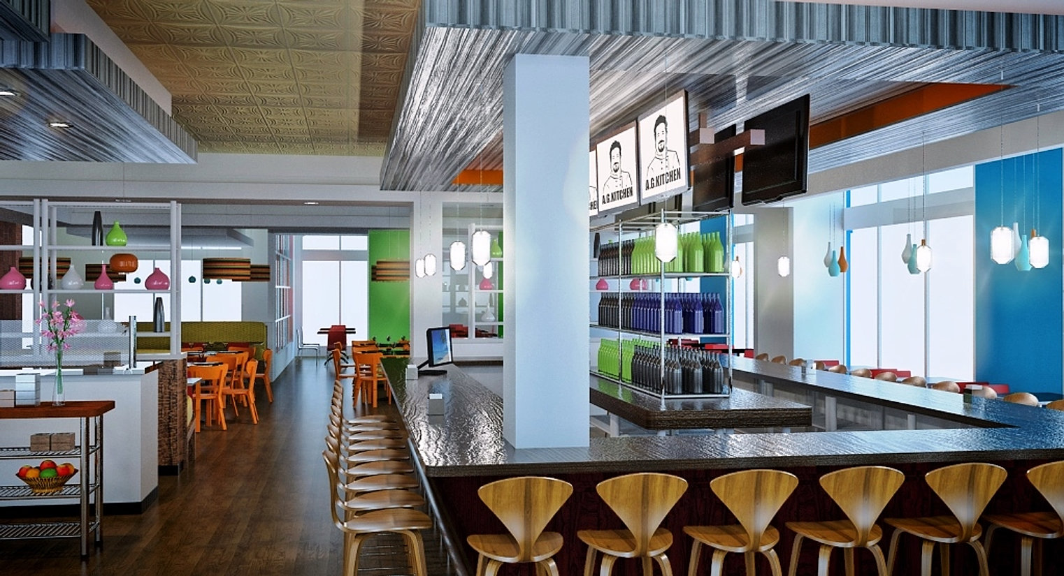 Franchise architects in house engineering interior design for Silver spring italian kitchen