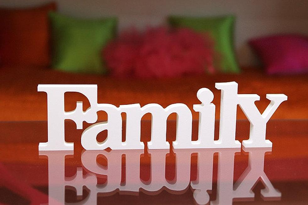 Слово семья своими руками