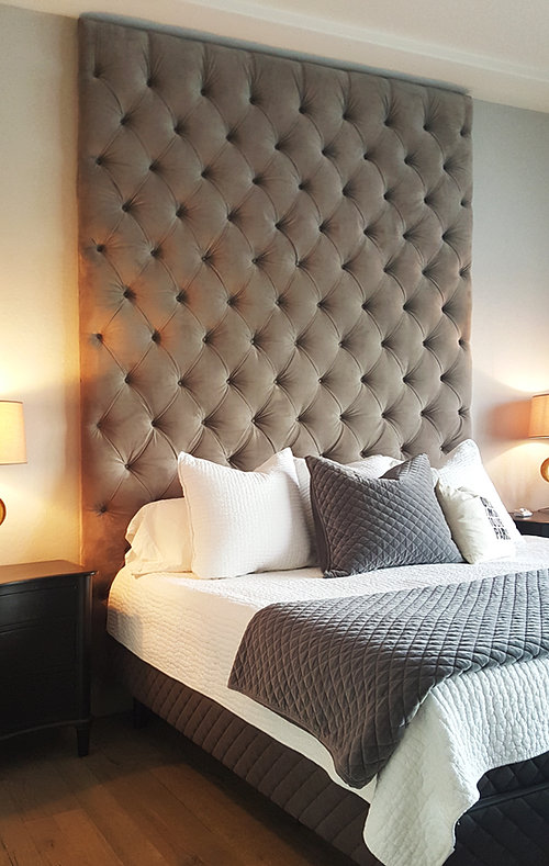 Custom beds and headboards for Bedroom ideas velvet bed