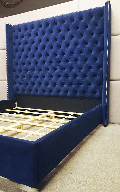 Custom beds and headboards - Extra tall queen bed frame ...