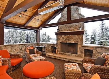 calgary house plans  drafting  designer  architect  draftspersonPriddis Reno Outdoor Fireplace