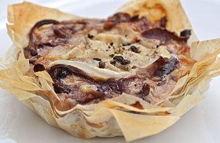 Cheese & Onion Skinny Tart