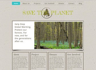 Nature Org Template - Perfect for nonprofits and charities, this template features an earthy design and neutral colors. Add text to describe your projects, goals, and vision. Upload photos to introduce team members and capture the energy of your organization. Start editing to spread the word! Use the Blog page to keep your followers up to date on your latest activities.