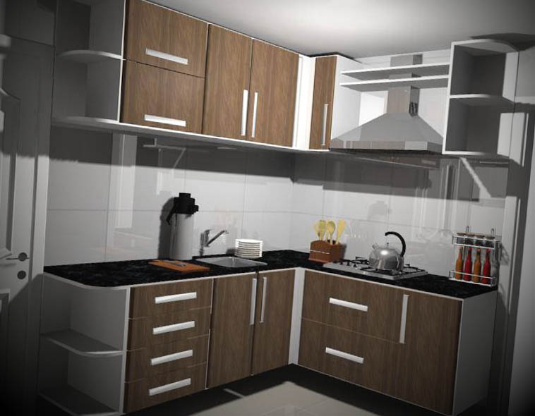 Armário de Cozinha Planejado  Móveis Planejados  Brasil  Kaza Store # Armario De Cozinha Feito De Bloco
