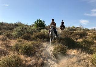 Paseo a caballo playa huelva