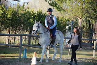leçon d'équitation