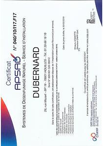 Certificat SDN 040 10 I17 F17 Installati