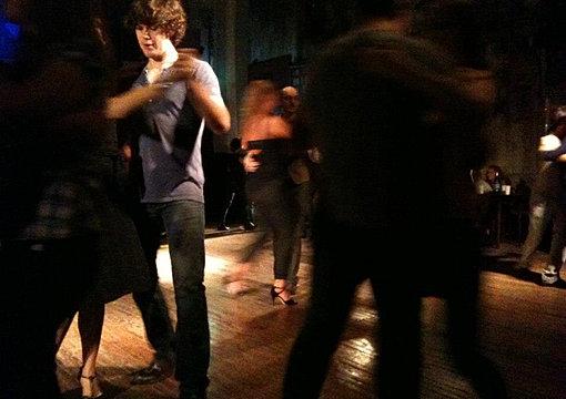 Dancing tango in Buenos Aires