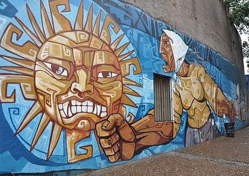 Mujer mural in La Boca