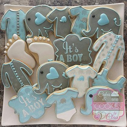 ... Blue U0026 Gray Baby Elephant ...