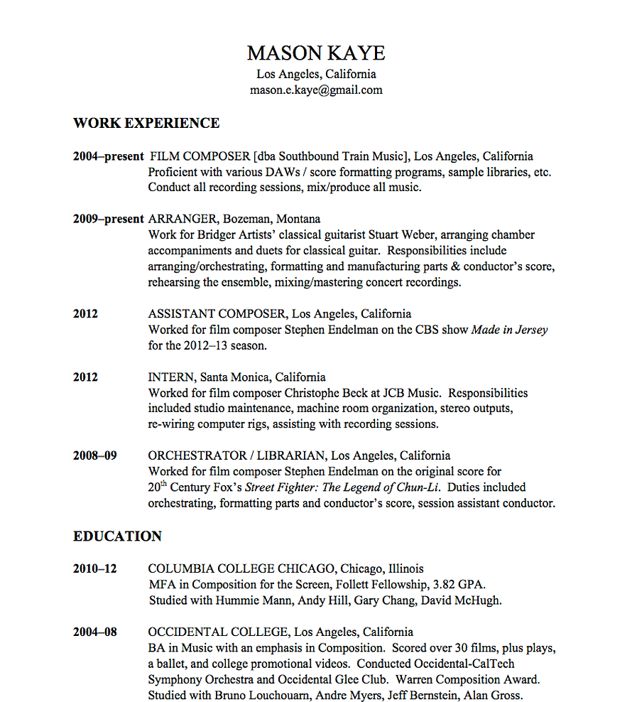 conductor resume template