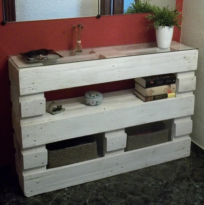 Mueble recibidor hecho con palets Venute  Nekodecor  arte con