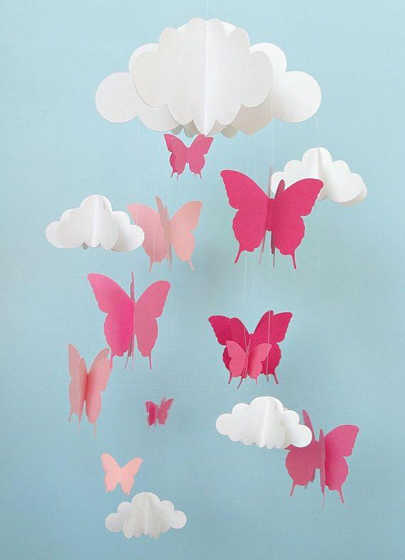 Как сделать мобиль из бабочек